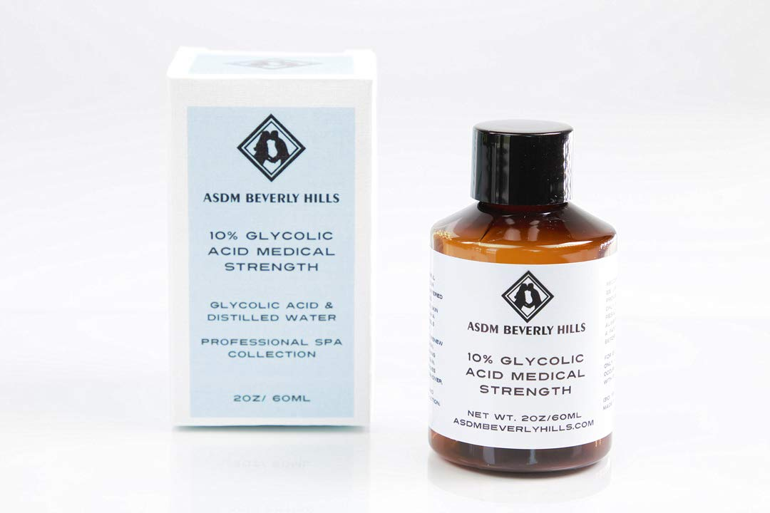 Pure Glycolic Acid Peel AHA 10% Full Strength 2oz - Acne ASDM Beverly HillsTM 10 % GLYCOLIC ACID