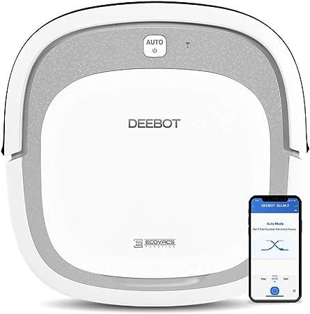 Ecovacs Deebot Slim2 Robot Aspirador 3 en 1: barre, aspira y pasa mopa, navegación aleatoria, control por App, Wifi, 3 modos de limpieza, detecta obstáculos, Blanco, Diámetro: 31 cm: Ecovacs: Amazon.es: Hogar