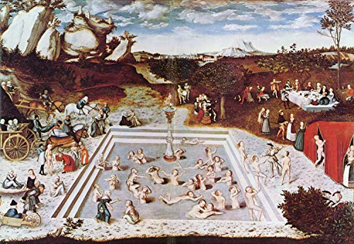 - Home Comforts Peel-n-Stick Poster of Cranach d. Ä, Lucas - The Fountain of Youth Vivid Imagery Poster 24 x 16 Adhesive Sticker Poster Print