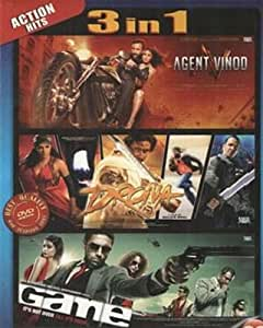 Agent Vinod/Drona/Game (Hindi Film / Bollywood Movie / Indian Cinema 3 in 1 - 100% Orginal DVD Without Subtittle)
