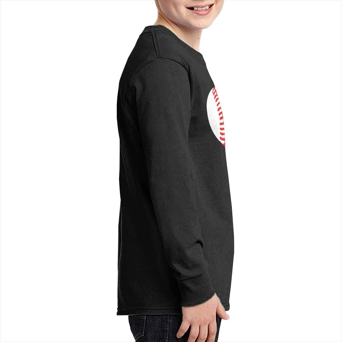 Teenagers Teen Girl Baseball Softball Printed Long Sleeve 100/% Cotton Tops