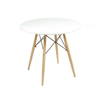 Tavolo rotondo bianco: Amazon.it: Casa e cucina