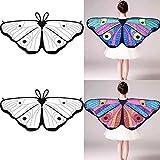 Gaddrt DIY Bat Wings with 4Pcs Colored Pens, Kids Child DIY Chiffon Bat Cape Wings Creative Angel Wings Dress up Costume (E)