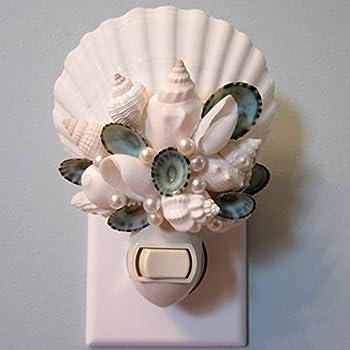 Seashell Night Light for Beach Decor, Nautical Decor, Or Coastal Decor - Whites or Colors