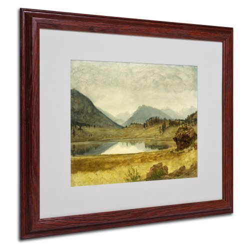 Frame Canvas Bierstadt - Wind River Country Canvas Wall Art by Albert Bierstadt with Wood Frame, 16 by 20-Inch