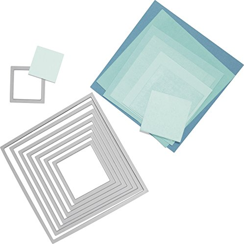 Scalloped Die Cut - Sizzix Framelits Die Set 8/PK - Squares