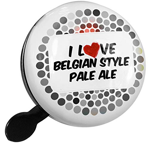 NEONBLOND Bike Bell I Love Belgian Style Pale Ale Beer Scooter or Bicycle Horn ()