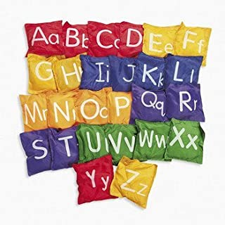 """Fun Express Alphabet Bean Bags- 5"""" - 26 Pc - 26 Pieces - Educational and Learning Activities for Kids"""