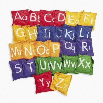 Alphabet Bean Bags Letters Uppercase Lowercase Toss Game