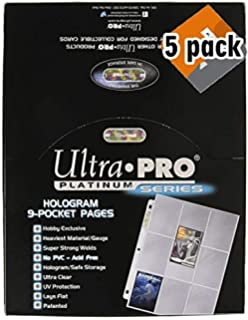 Amazoncom Ultra Pro 9 Pocket Silver Series Page Protector
