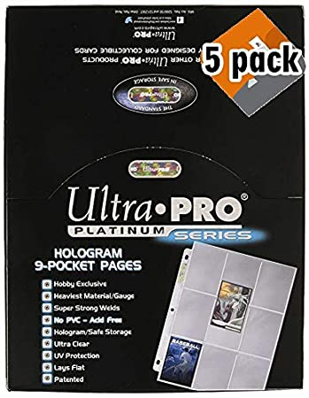 Ultra Pro 9-Pocket Trading Card Pages - Platinum Series (100 Pages