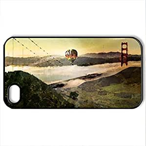 Beyond the bridge - Case Cover for iPhone 4 and 4s (Bridges Series, Watercolor style, Black)