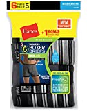 Hanes Men's 6-Pack FreshIQ Striped Sport Boxer Briefs