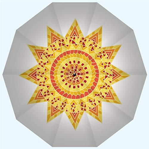 (Fashion Travel Umbrella Sun Umbrella UV protection automatic opening and closing, Hand drawn sun for anti stress colouring page, windproof - rainproof - men - ladies - versatile - 42)