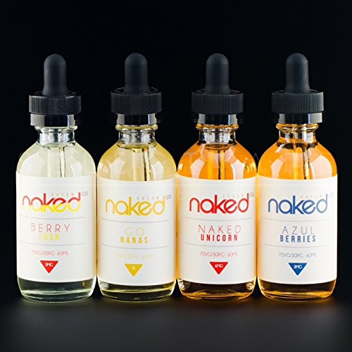 Naked 100 Juice 60ml (USA LAB) - Many Flavors - 100% Authentic - 0MG Only - 1 Bottle! (Very Cool) (Best Non Nicotine E Liquid)