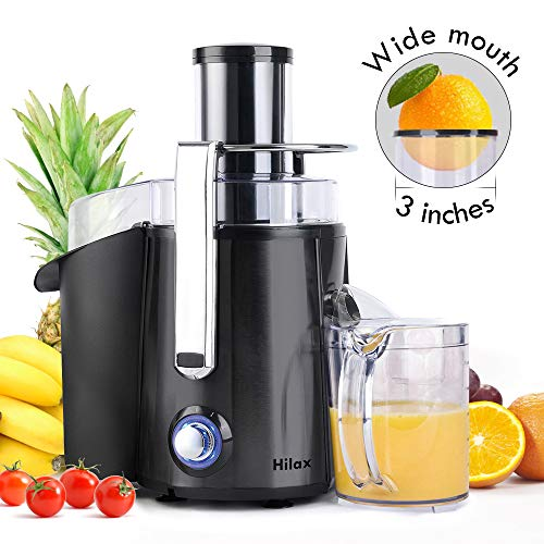 Centrifugal Juicer Machine – Juice Maker Extractor,Juice Processor Fruit and Vegetable,Easy to Clean Stainless Steel Power Juicer,Dual Speed,Big Mouth 3 Inches Feed Chute,Anti-drip,BPA Free (Black)