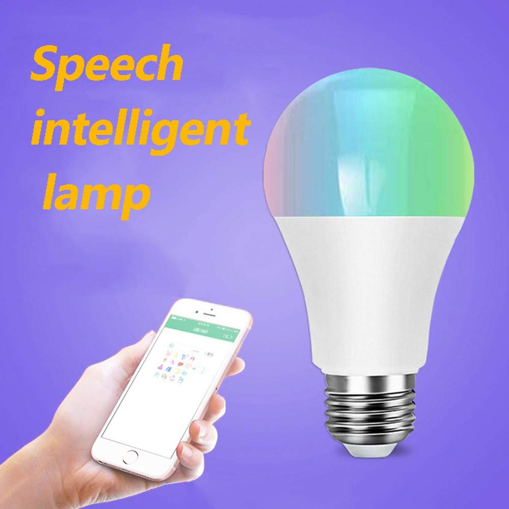 USHOT WiFi Smart Light Bulb Dimmable Multicolor Wake-up Lights Lamp Voice Control RGBW