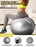 AWAKER Exercise Ball(55-75cm) Anti-Burst Yoga Ball