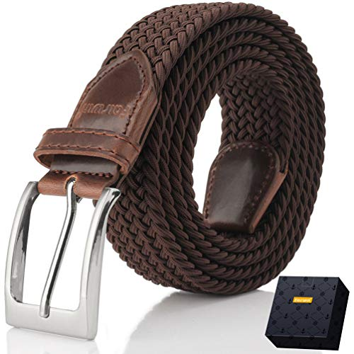 Elastic Braided Belt, Fairwin Enduring Stretch Woven Belt for Men/Women/Junior ()