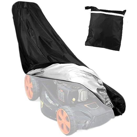 HOGAR AMO Funda para Cortacésped del Poliéster 210D Resistente Protector Impermeable 76 * 25 * 57 * 44 Pulgadas Todo el Timpo Protección al Aire ...
