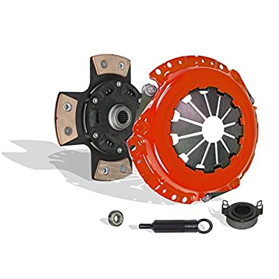 Clutch Kit Works With Corolla Matrix Vibe Mr-2 Celica Prizm Base Core Rs S Ce Le Xr Lsi Gsi 1991-2011 1.5L 1.6L 1.8L l4 GAS DOHC Naturally Aspirated (4-Puck Disc Stage 3; Flywheel Spec: +.020;): Automotive