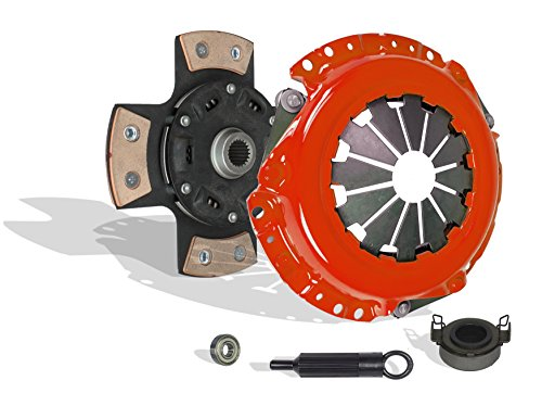 Clutch Kit Works With Corolla Matrix Vibe Mr-2 Celica Prizm Base Core Rs S Ce Le Xr Lsi Gsi 1991-2011 1.5L l4 GAS DOHC Naturally Aspirated (4-Puck Disc Stage 3; Flywheel Spec: +.020;)