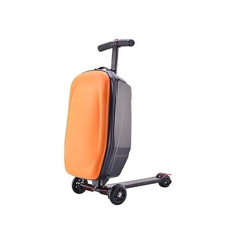 JIAAN Aleación De Aluminio Vespa Carrito para Equipaje 20 Pulgadas Maleta Estudiante,Orange