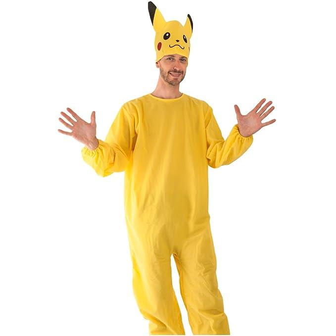 Amazon.com: Adultos Pokemon Pikachu disfraz tamaño estándar ...