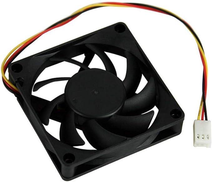 CAOQAO - Ventilador de Carcasa para PC y PC (12 V, 7 cm, 70 x 70 x ...
