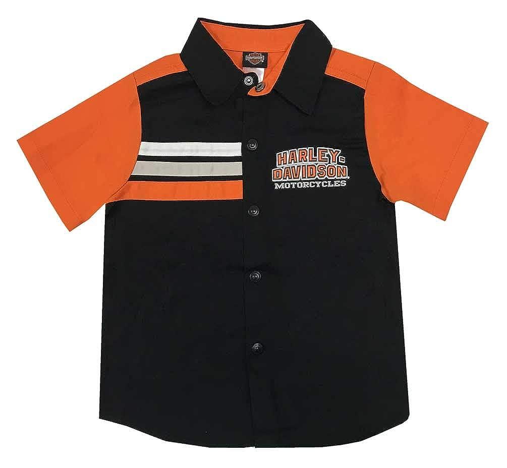 Harley-Davidson Little Boys Short Sleeve Woven Shop Shirt Black 1073865