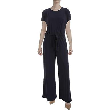 c2ded86efb0b Lauren Ralph Lauren Womens Sancia Cold Shoulder Matte Jersey Jumpsuit Navy L