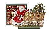 Villeroy & Boch Christmas Toys Memory Advent Calendar Sleigh, Porcelain, Red, 54x 21x 40cm