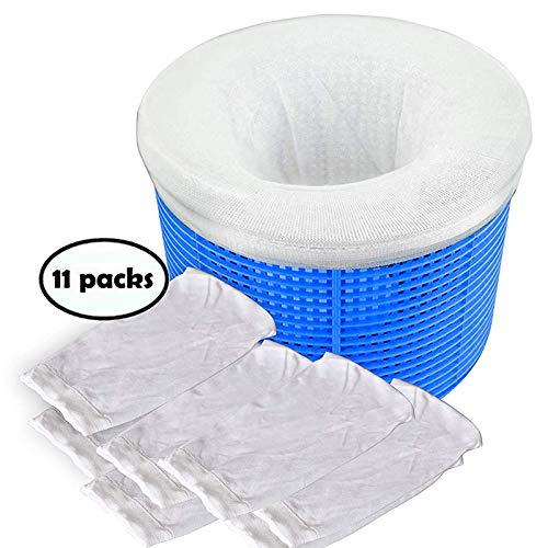 Pool Spa Part Pool Skimmer Socks, Filter Savers for Baskets and Skimmers, Fine Mesh Pack of 11