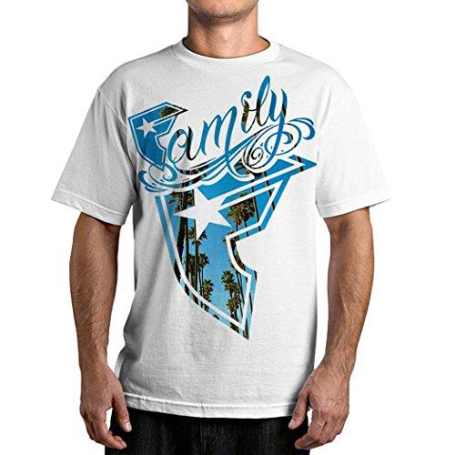 Famous Stars and Straps Men's Breezin T-Shirt, White, Large