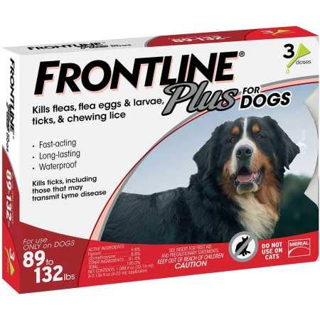 Frontline Plus for Dogs 89132 lbs RED, 3 ()