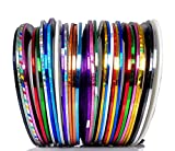 Beaute Galleria 30 Mixed Colors Rolls Striping Tapes Line Adhesive...