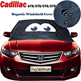 Magnetic Windshield Cover Ice & Snow Frost Freeze Protector Heat Insulation Sun-UV Shield Dust Shield Waterproof for Cadillac ATS / XTS / CT6 / XT5
