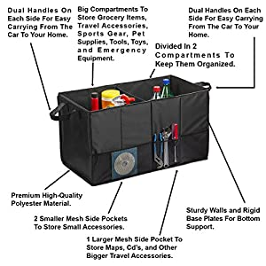 Auto Trunk Organizer, Multipurpose Folding Trunk Storage Organizer, Collapsible Car Organizer, Sturdy Organizer For Car…