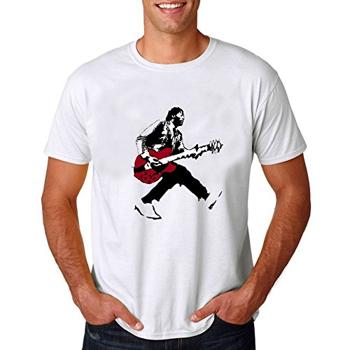 Men's Chuck Berry Guitar Portrait Tee M (White Guitar Portrait)