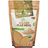 Grain Brain Golden Flax Seed Meal, Organic Gluten Free, Non-GMO, Packaged in Resealable Pouch Bags to preserve Freshness (12 oz)