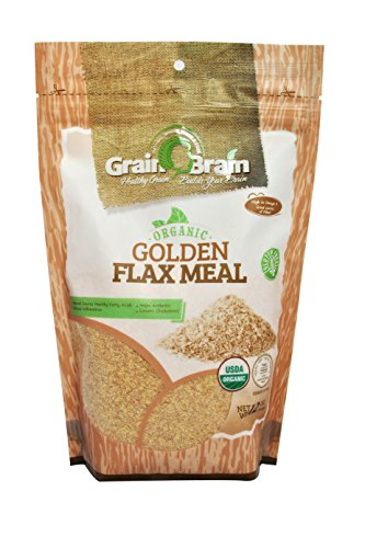 Grain Brain Golden Flax Seed Meal, Organic, Non-GMO, Packaged in Resealable Pouch Bags to preserve Freshness (12 oz)