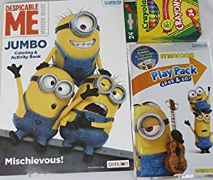 Amazon Despicable Me Minions Variety Coloring Book And Play Pack 3 Piece Set Toys Amp Games