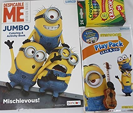 Despicable Me Minions Variety Coloring Book And Play Pack 3 Piece Set