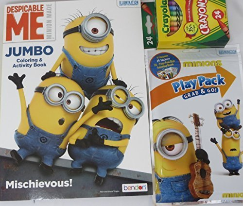 Despicable Me 2 Carl Costume (Despicable Me Minions Variety Coloring Book and Play Pack 3 piece Set)