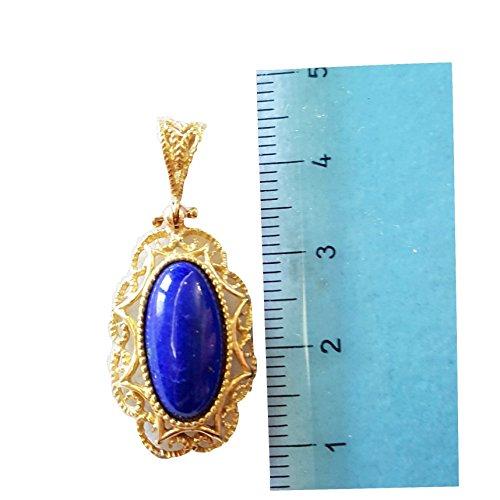 Pendentif en Or 18cts satiné avec lapis-lazuli Gr. 3,60