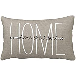Standard Pillowcase Home Decorative Cushion Case Rustic Chic Home Pillow Cover 12x18 Inches