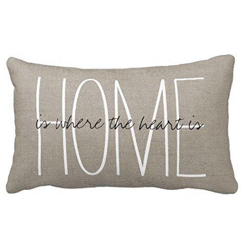 Standard Pillowcase Home Decorative Cushion Case Rustic Chic