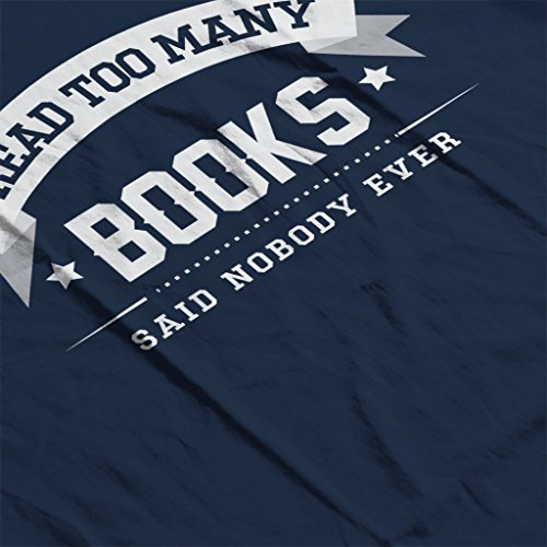 I Read Too Many Books Said Nobody Ever Men's Hooded Sweatshirt