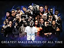 "777 Tri-Seven Entertainment 25 Greatest Male Rappers of All Time Poster, 24"" x 18"""