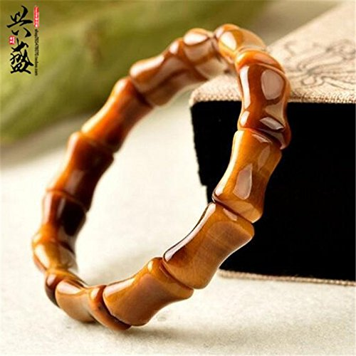 - Jade industry flourished natural Tiger Eye hand row bamboo wood alexandrite crystal bracelet gift for man women girls students steadily high